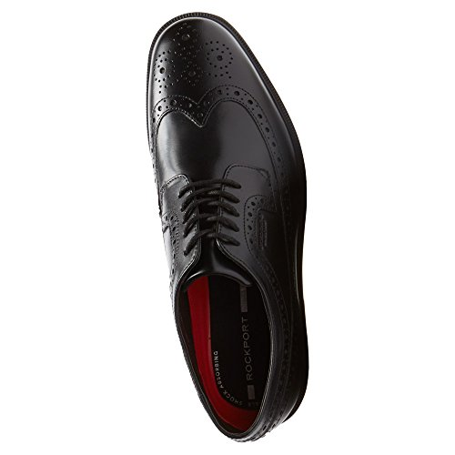 Wingtip Leather Shoe Waterproof Rockport Oxford Black Details Essential Men's SIW8qOf