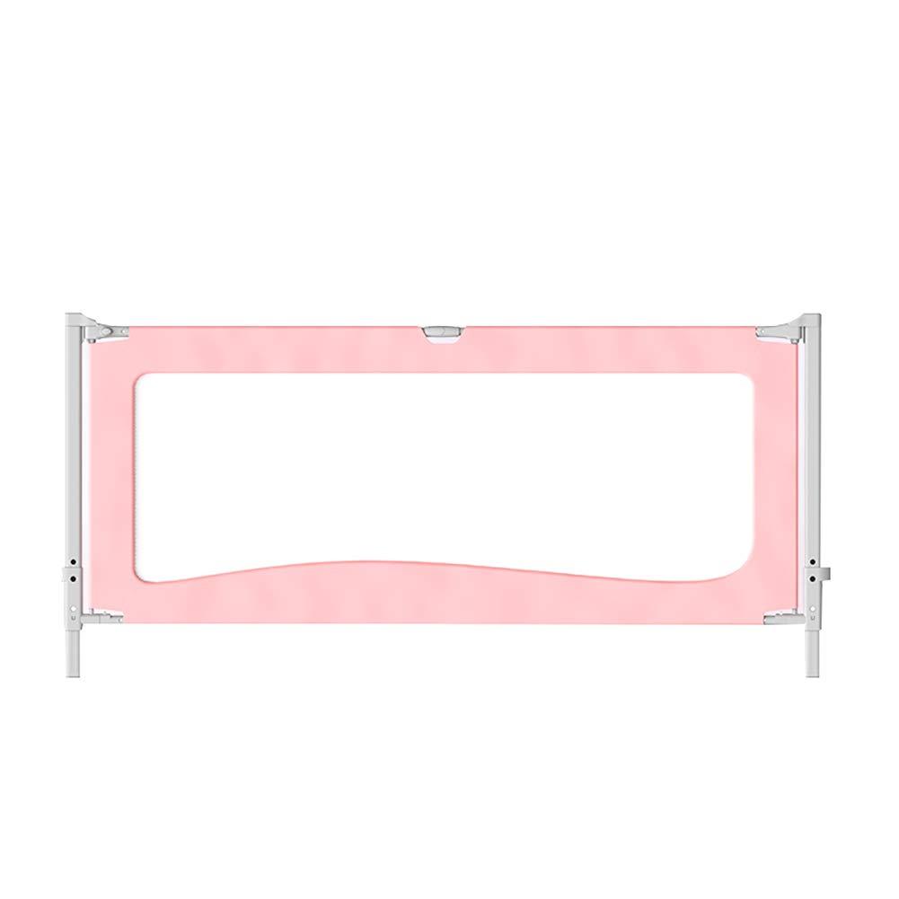 ベッドレール垂直リフティングベッドガードレールベビーアンチ秋ベビー子供2メートル1.8大きなベッドサイドバッフル上昇85CM全周丈夫なステッチのアンチドロップベッド (色 : Pink, サイズ さいず : 1.8m) 1.8m Pink B07L4RKT8X