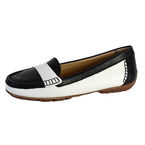 Mocasines Geox Italia De La Marca Blanco/Negro: Amazon.es: Zapatos y complementos