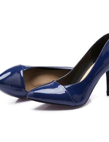 ZQ noche cuero e mujer tac vestito Blu 40 di negro boda Scarpe ® tacones stiletto tacones Casual EU Rosso n Feste ¨ patentado ZawrZp6xq