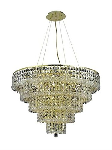 Amazon.com: Chantal Gold Contemporáneo 17 luces colgante ...