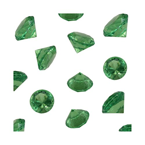 (Lime Acrylic Diamond Vase Fillers 1 Pound - 240 pcs 3/4 Inch Wedding Party Event Banquet Birthday Decoration Crystals Gem Table Scatters (Lime, 240 pcs))
