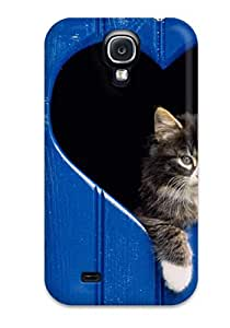 XaxiHId32281SukNm Faddish Cat In Heart Cutout Case Cover For Galaxy S4