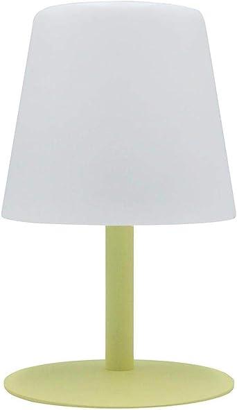 Lumisky - Lámpara de mesa de jardín con luz blanca inalámbrica con batería STANDY Mini Lemon de 26 cm, ABS, amarillo, 15 x 15 x 26 cm: Amazon.es: Iluminación