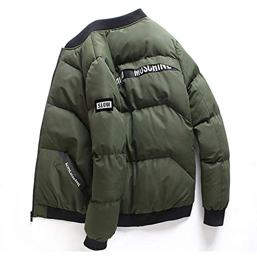 Outwear Cotton Padded Winter Warm Army Pocket Men's Down Tianya Jacket Cotton Green Coat Tops Thicken Zipper Stand Collar 7HYBqz