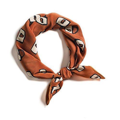 FLYRCX Doux et Confortables décorées Chiffon Foulard Foulard Soie 53cmx53cm Multifonction