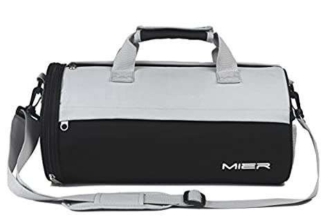 MIER Barrel Travel Sports Bag for Women and Men Small Gym Bag with Shoes Compartment - Sporty Travel Tote