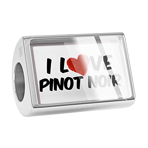 NEONBLOND Charm I Love Pinot Noir Wine 925 Sterling Silver Bead