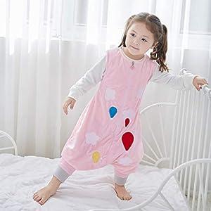 Toddler Sleeping Bag 1.5 Tog Baby Sleeping Sack with Legs Zipper Front