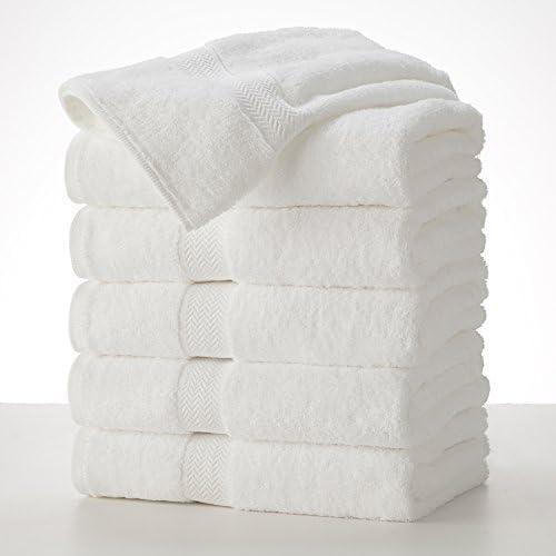 Grandeur Hospitality 6 toallas de baño blancas 100% algodón de 76 ...