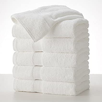 Grandeur Hospitality 6 toallas de baño blancas 100% algodón de 76 cm x 132 cm