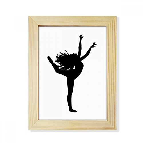 Sports Dance Dancer Performance Art Desktop Wooden Photo Frame Picture Art Painting 6x8 inch by DIYthinker