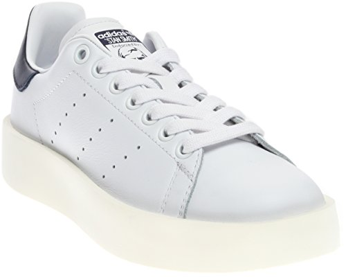 adidas donne 'stan smith / bianco / nero grassetto originali marina casual scarpa donne noi