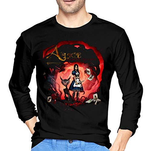 AlbertJ Mens Alice Madness Returns Long Sleeve T