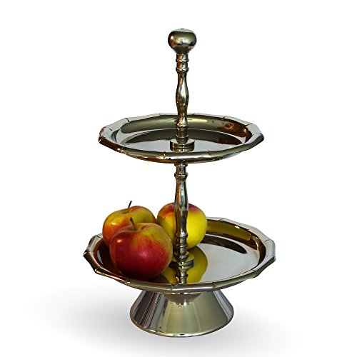 Tier Serving Tray - Stand - Cupcake - Dessert - Metal - Decorative (2 - Aluminum Stand Tier