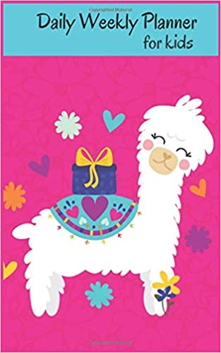 amazon daily weekly planner for kids cute llama undated weekly
