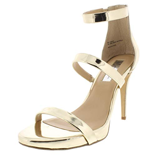 INC International Concepts Womens Sadiee Open Toe Casual, Pale Gold, Size 5.5 (Inc International Concepts Heels)