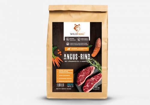 Wildfang® Hundefutter Trocken – Getreidefreies Hundefutter – Angus Rind mit Süsskartoffel & Karotte | Ideal für…