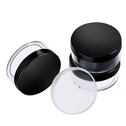Hotop 3 Pack 50 ml Plastic Empty Powder Case Face Powder Makeup Container Blusher Cosmetic Container with Sifter and Lids, ()