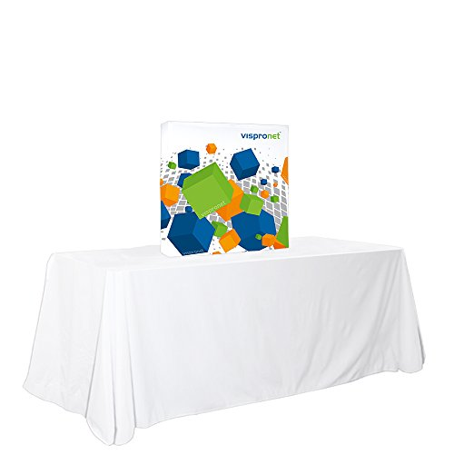 Vispronet Pop-up Tension Fabric Trade Show Display Booth Frames (2.5ft x 2.5ft) by Vispronet