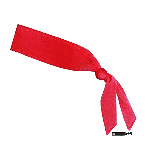 Headbands Tie on Headband for Women Men Running Athletic Hair Head Band Elastic Sports Sweat Basketball Sweatband Stetchy Yoga Workout Sweatbands Adjustable Non-Slip Moisture Wicking (red)
