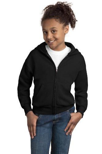 Hanes Comfortblend EcoSmart Full-Zip Kids' Hoodie Sweatshirt, Black, Large (Classy Outfits For Men)