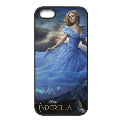 Cinderella 2 coque iPhone 5 5S cellulaire cas coque de téléphone cas téléphone cellulaire noir couvercle EOKXLLNCD22878