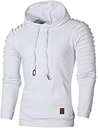Men's Fashion Hoodie Long Sleeve Pullover Sweatshirt Warm Jacket Coat