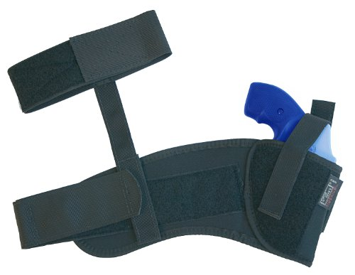Uncle Mike's Law Enforcement Kodra Nylon Ankle Holster with Retention Strap by Uncle Mike's