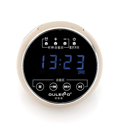 xingganglengyin Wireless Bluetooth Speaker Mini Mobile Alarm Clock Small Sound Computer Car Subwoofer by xingganglengyin (Image #4)