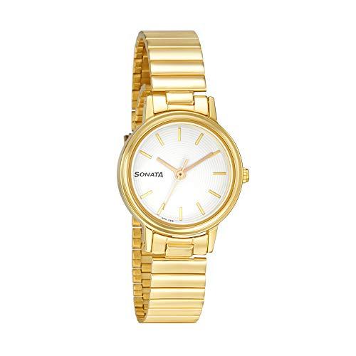 Sonata Analog White Dial Women's Watch 87031PL04