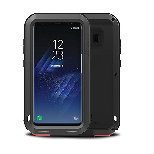 Samsung Galaxy S8 Plus case,Feitenn Extreme Hybrid Armor Alloy Aluminum Metal Bumper Soft Rubber Military Heavy Duty Shockproof Hard Case For Samsung Galaxy S8 plus screen protector gift -