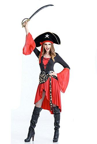 Women's halloween pirate costume fancy dress ball 89203 (XL) - Xl Womens Halloween Costumes
