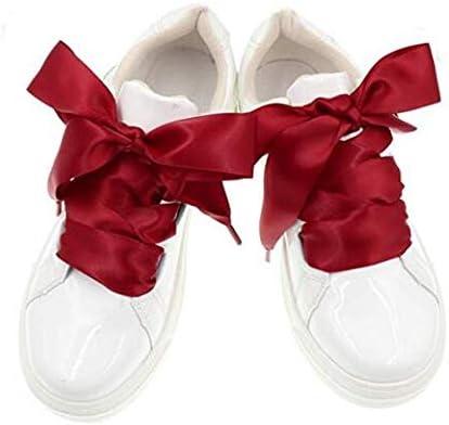 レース 靴ひも スニーカー フラットシューズ スニーカー ブーツ レース 平シューレース レジャーシューズ 靴紐 120cm スニーカー 6~7穴 サテン リボン 素材靴ひも