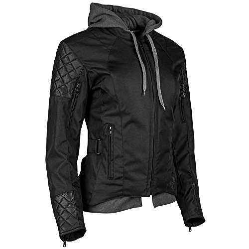 - Speed and Strength Women's Women's Double Take Black Textile/Leather Jacket 884303