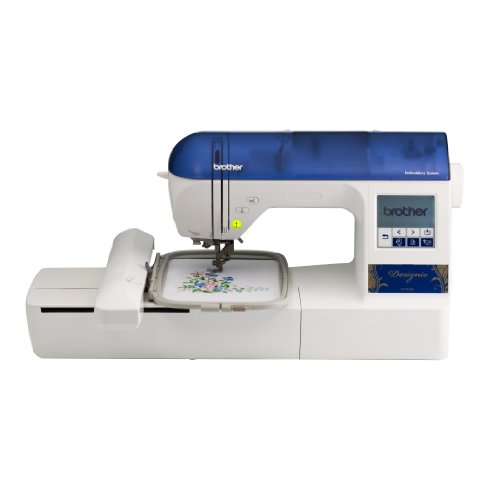 Brother Designio Series DZ820E Embroidery Machine with bonus embroidery hoops (4×4 inch and 2.5×1 inch), a starter kit and a CD with 200 bonus embroidery designs – more than a $200 value