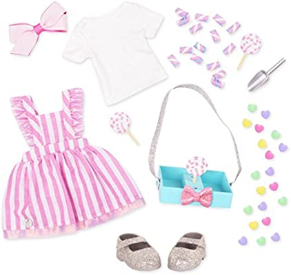 Glitter Girls by Battat - A Scoop of Yummy Treats Outfit -14-inch Doll Clothes - Toys, Clothes and Accessories for Girls 3-Year-Old and Up