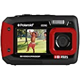 "Polaroid IE090-RED Waterproof Digital Camera with 2.7"" LCD (Red)"