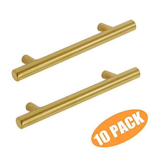 Cabinet Contemporary Brass (Probrico 10 Pack Bar Cabinet Pull 3-3/4