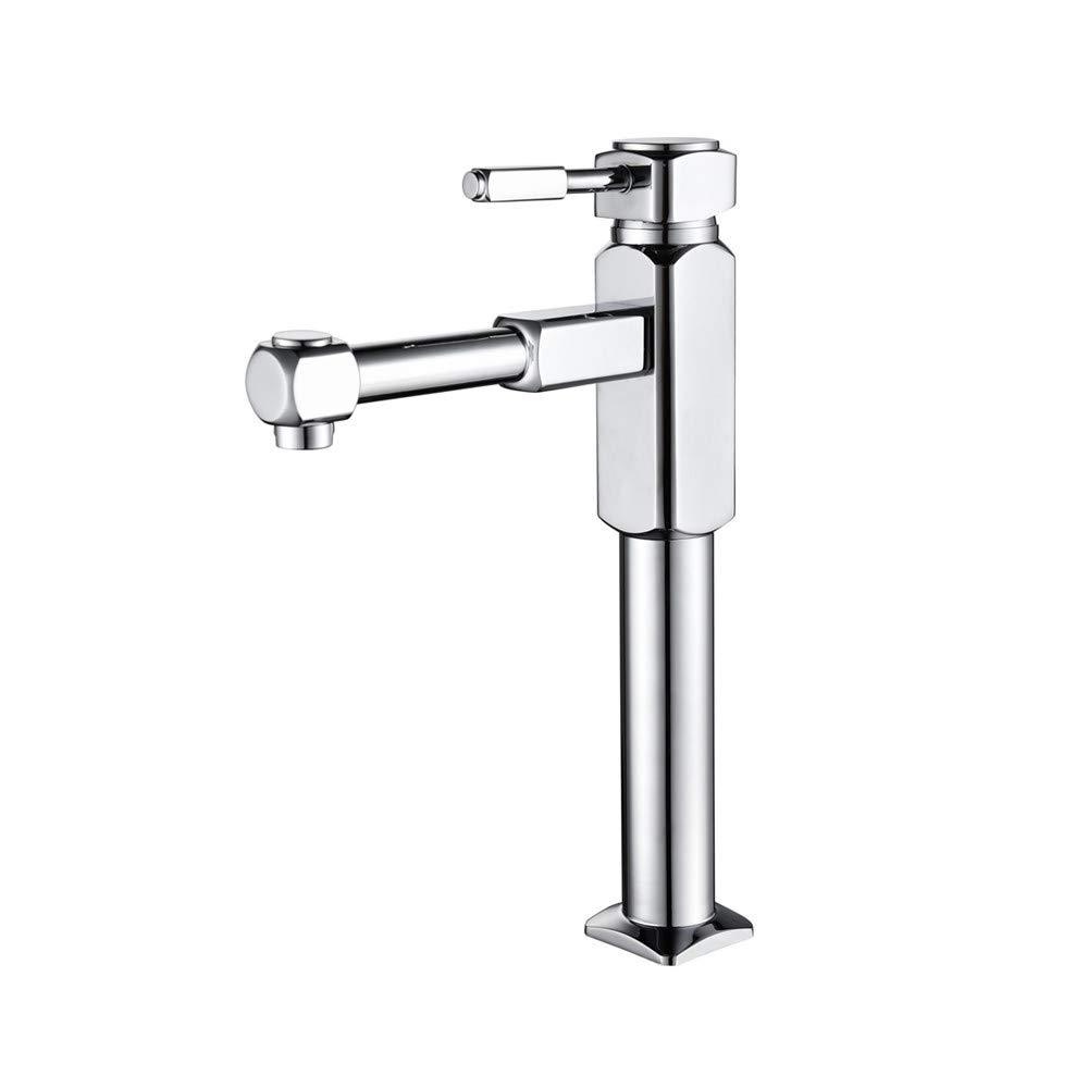 Badezimmer-Waschbecken Wasserhahn, Modernes Bad Becken Sink Mixer Taps Single Lever Weiß Paint Mit Chrome Plated-Mehr Sicherheit Für Beckenschinken In Badezimmer-Toilette Küche