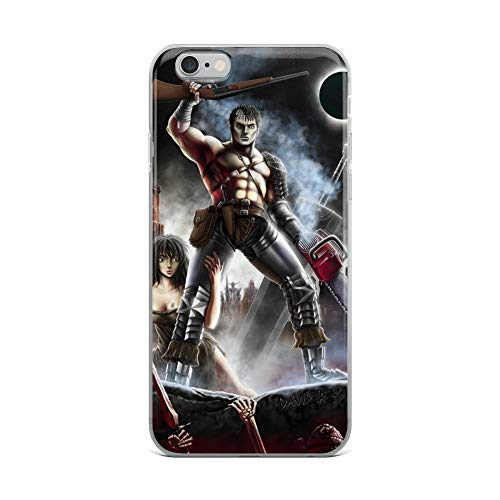 iPhone 6 Plus/6s Plus Case Anti-Scratch Japanese Comic Transparent Cases Cover Army of Griffith Berserk & Army of Darkness Anime & Manga Graphic Novels Crystal Clear