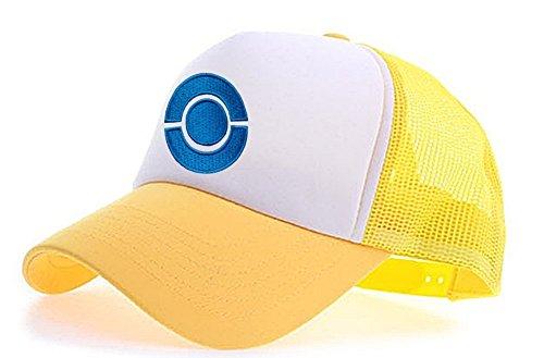 myglory77mall Sombrero de Animado para Hombre T2 Blanco Amarillo
