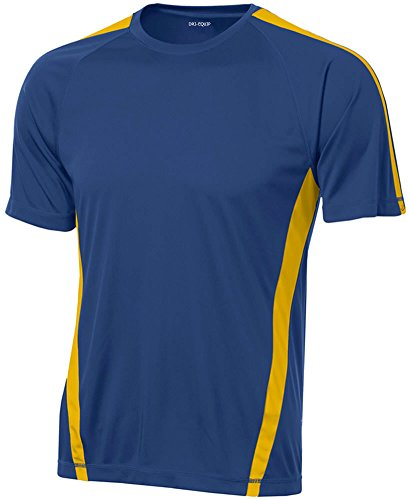 Dri Equip Mens Short Sleeve Moisture Wicking Athletic T Shirt Gold Royal S