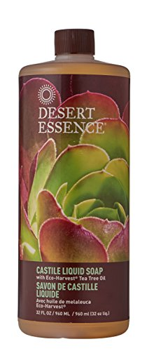 Desert Essence Liquid Soap, Castile, 32 Ounce