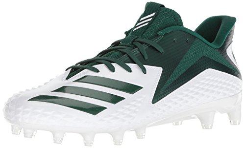 adidas Men's 5 Star Football Shoe, White Dark Green, 10 M US