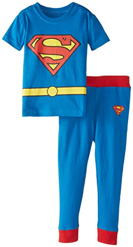 DC Comics Baby Boys' Short Sleeve LL Superman 2 Piece Cotton Infant, Blue, 18 Months