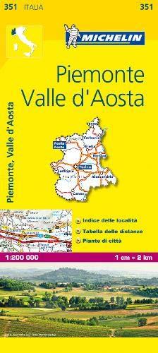 Cartina Michelin Piemonte.Piemonte E Valle D Aosta 1 200 000 Map Michelin Travel Publications Libri Amazon It