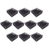 Easycargo 10pcs 25mm Heatsink 25x25x10mm + pre applied 3M 8810 thermal conductive adhesive tape for cooling cooler GPU Chips VRAM VGA RAM (25mmx25mmx10mm)
