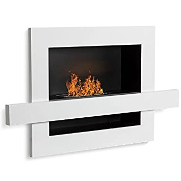 Urban, color blanco, etanol (-Chimenea de pared) Sartén ecológico: Amazon.es: Hogar