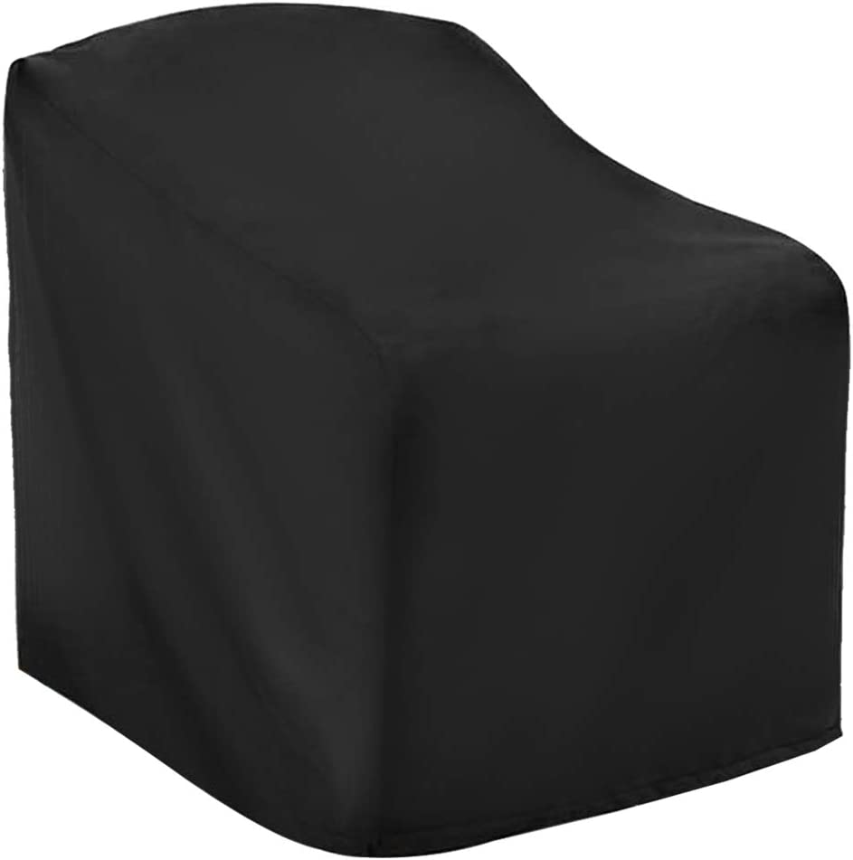 Fantye Black Patio Chair Cover, Chair Patio Furniture Covers Heavy Duty Outdoor Chair Covers Deep Seat Cover Waterproof Lawn Patio Furniture Covers (26 x 26 x 32 x 47 in)